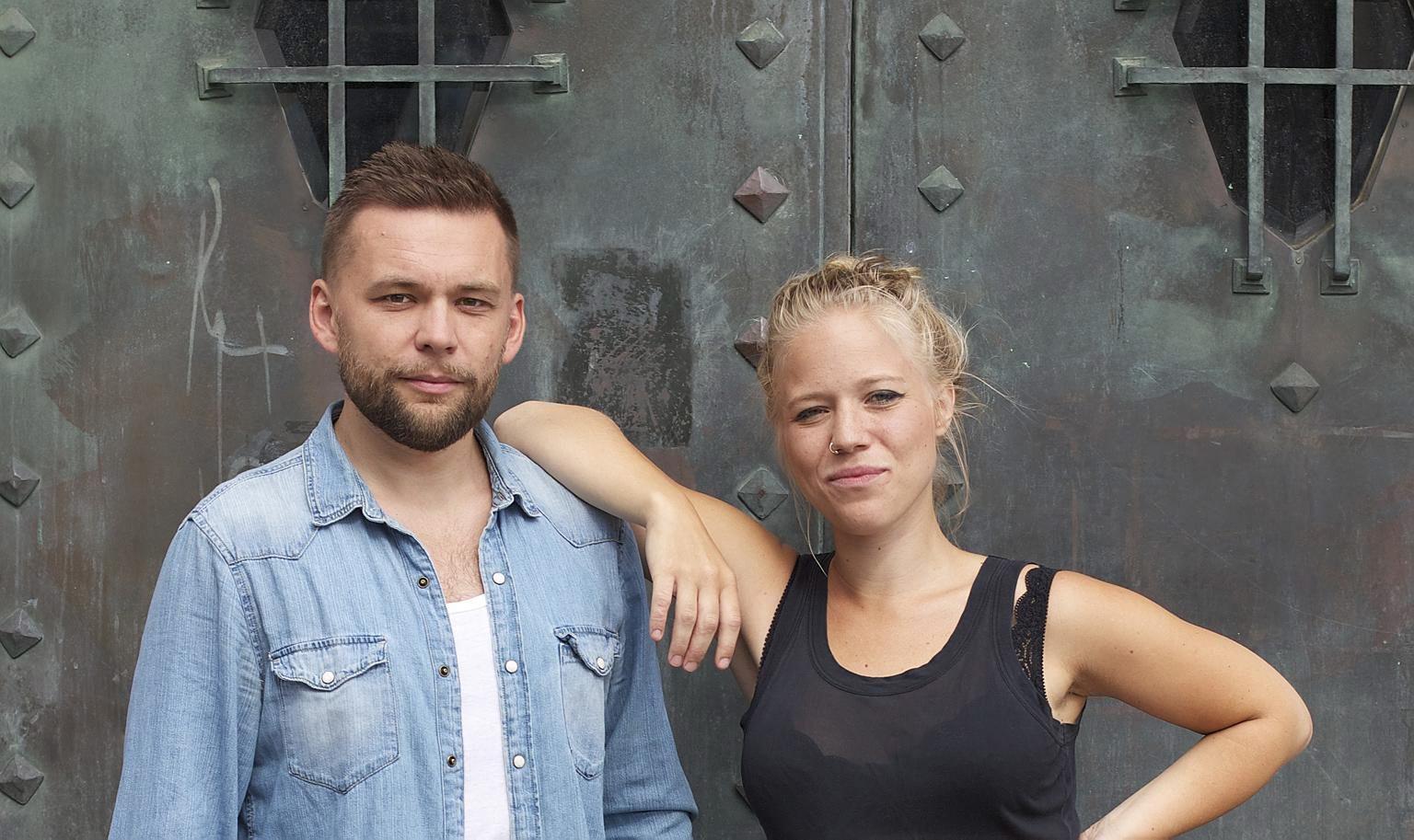 Bild på Oskar Hanska och Olivia Bergdahl. Foto: Annie Wegraeus